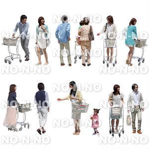 人物切抜きセット☆ショッピングカート 1_set062