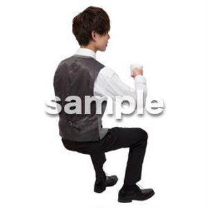 Cutout People 座る 男性 LL_094