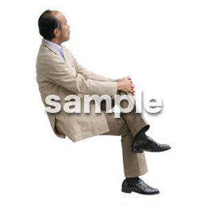 人物切抜き素材 医療・シニア車椅子編 D_234