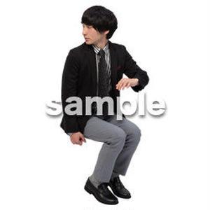 Cutout People 座る 男性 LL_142