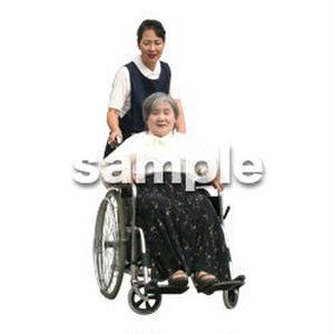 人物切抜き素材 医療・シニア車椅子編 D_283