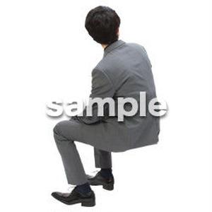 Cutout People 座る 男性 LL_105
