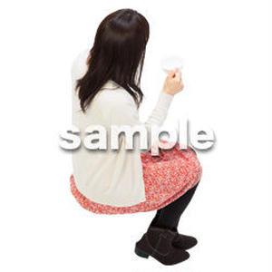 Cutout People 鳥瞰 座る女性  FF_499