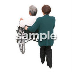 人物切抜き素材 医療・シニア車椅子編 D_282