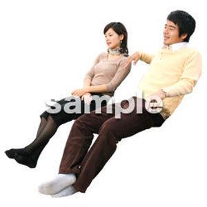 人物切抜き素材 座る人編 H_097