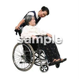人物切抜き素材 医療・シニア車椅子編 D_285