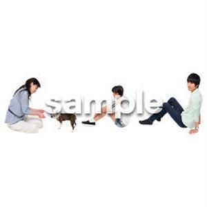 Cutout People 犬の散歩 II_498