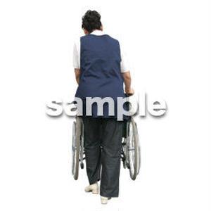 人物切抜き素材 医療・シニア車椅子編 D_287