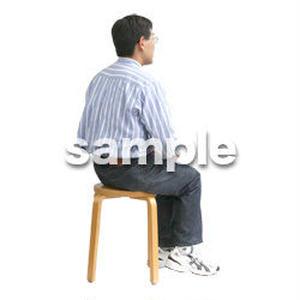 人物切抜き素材 医療・シニア車椅子編 D_221