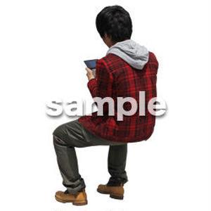 人物切抜き素材 レジャー・ショッピング編 L_493