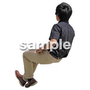 人物切抜き素材 座る人Ⅱ編 Q_576