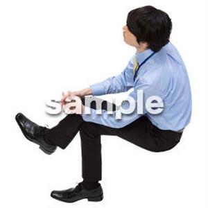 Cutout People 鳥瞰 座る男性  FF_398