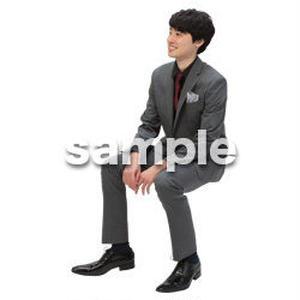 Cutout People 座る 男性 LL_102