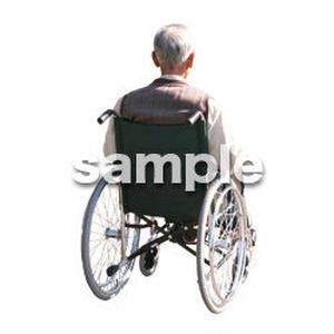 人物切抜き素材 医療・シニア車椅子編 D_272