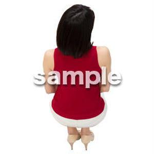 Cutout People 鳥瞰 座る女性  FF_485