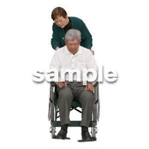 人物切抜き素材 医療・シニア車椅子編 D_278