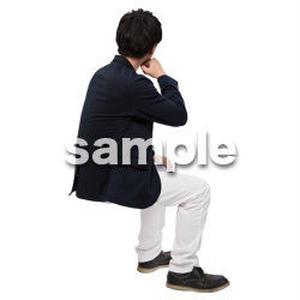 Cutout People 座る 男性 LL_114