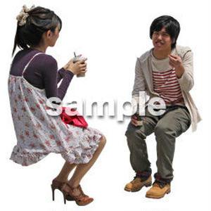 人物切抜き素材 レジャー・ショッピング編 L_411
