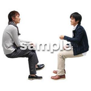 人物切抜き素材 座る人Ⅱ編 Q_079