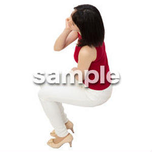 Cutout People 鳥瞰 座る女性  FF_483