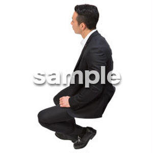 Cutout People 鳥瞰 座る男性  FF_383