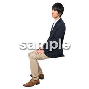 Cutout People 座る 男性 LL_118