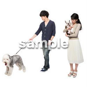 Cutout People 犬の散歩 II_477