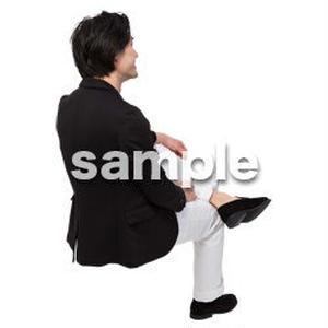 Cutout People 座る 男性 LL_135