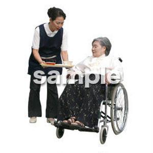 人物切抜き素材 医療・シニア車椅子編 D_291