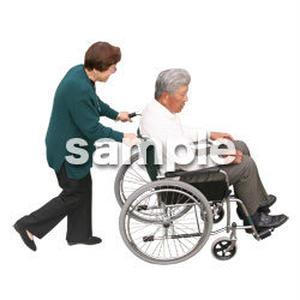 人物切抜き素材 医療・シニア車椅子編 D_280