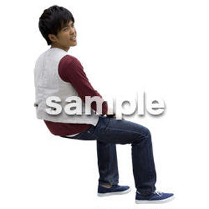 人物切抜き素材 座る人Ⅱ編 Q_590