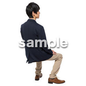 Cutout People 座る 男性 LL_120