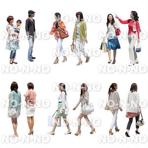 人物切抜きセット☆カラフルファッション 1_set060