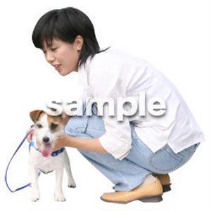 人物切抜き素材 リビング・散歩編 I_352
