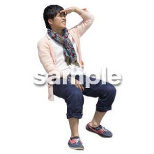 人物切抜き素材 座る人Ⅱ編 Q_582