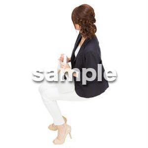 Cutout People 鳥瞰 座る女性  FF_478