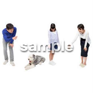 Cutout People 犬の散歩 II_491
