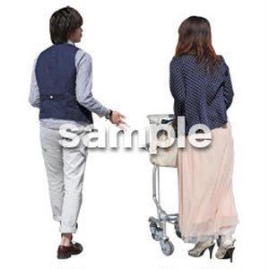 人物切抜き素材 ショッピングモール護編 T_460