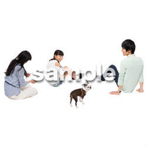 Cutout People 犬の散歩 II_499