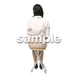 人物切抜き素材 医療・シニア車椅子編 D_227