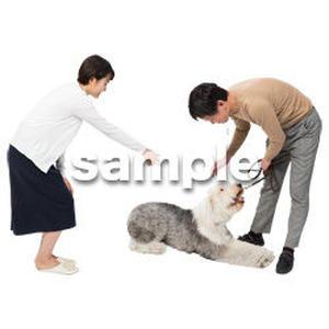 Cutout People 犬の散歩 II_490