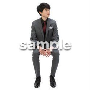 Cutout People 座る 男性 LL_101