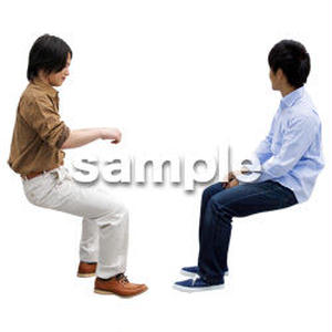 人物切抜き素材 座る人Ⅱ編 Q_069