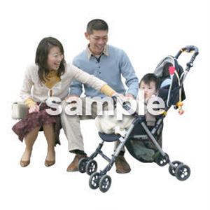 人物切抜き素材 医療・シニア車椅子編 D_213