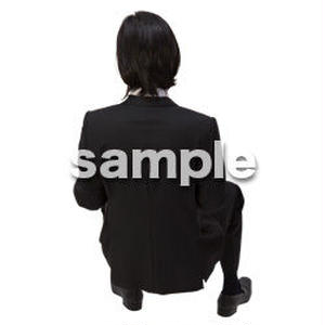 Cutout People 鳥瞰 座る男性  FF_395
