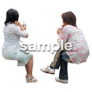 人物切抜き素材 レジャー・ショッピング編 L_406