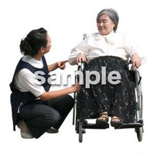 人物切抜き素材 医療・シニア車椅子編 D_297