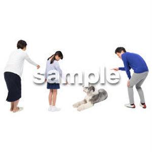 Cutout People 犬の散歩 II_494