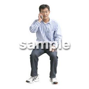 人物切抜き素材 医療・シニア車椅子編 D_217