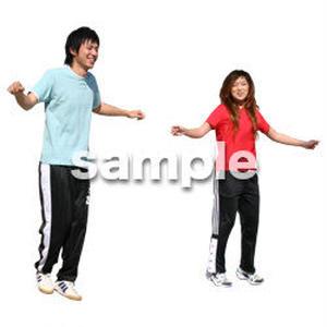 人物切抜き素材 夏服・フィットネス編 J_373